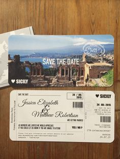 Boarding Pass Save The Date / Travel Wedding / Wedding Abroad / Wedding invitations / Bespoke Wedding Stationery / www.brandnewweddings.co.uk ©TheBr&newstudio LTD