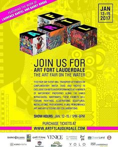 We cordially invite you to join us for ART FORT LAUDERDALE a revolutionary Art Fair experience incorporating multiple different exhibits which will provide a new an innovative approach to view and interact with art. It will be an outlet that will give artists the opportunity to showcase and sell their work in ways they've never showcased before whether they are independent or being represented by a gallery.  This four day event will transport attendees on complimentary water taxi and yachts…