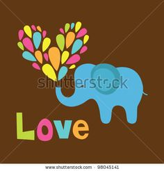 cute elephant in love. vector illustration by monbibi, via ShutterStock