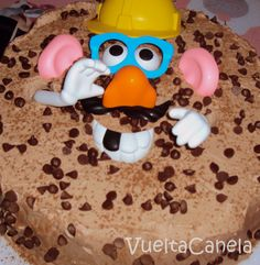 Mr. Potato Head pieces are perfect on a cake!
