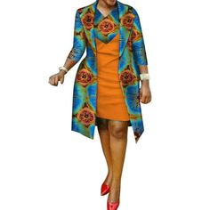 African cotton wax Print Dress and Suit Coat for – Afrinspiration by laviye - 2019 Dresses, Skirt, Shirts & African Print Dress Designs, African Print Dresses, African Print Fashion, African Design, Latest African Fashion Dresses, African Dresses For Women, African Attire, African Blouses, Kimono