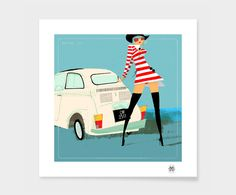Kunstdruk Voyage Girl, 40 x 50 cm | Dalani Home & Living
