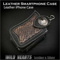 Leather/Smartphone/iPhone Case/Python/WILD HEARTS http://item.rakuten.co.jp/auc-wildhearts/cc1333r38/