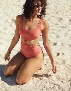 Aerie Cut Out One Piece Swimsuit