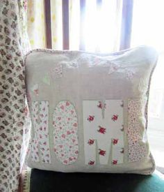 Home Applique Cushion (Free Sewing Pattern)