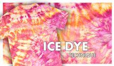 Ice Tie-Dye Technique