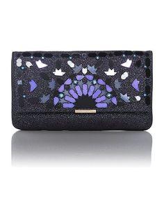 89916f0d1a0c1 Matthew Williamson Beau purple embellished clutch bag Embellished Clutch  Bags