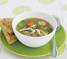 Ginger Chicken Soup With Vegetables | What could be more comforting than chicken soup in cold weather—and cold and flu season?