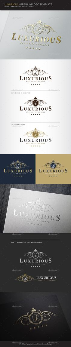 Luxurious Logo, beautiful crest, beauty salon, calligraphic ornament, classic filigree, classy hotel, creative vector, decorative shield, elegant blazon, fancy restaurant, fine winery, flourish, heraldic, heraldry, law firm, luxurious, luxury jewelry, majestic letter, nobility, ornate crown, professional logo template, real estate agency, romantic calligraphy, royal, royalty, stylish emblem, swirl, vintage fashion, wedding planner