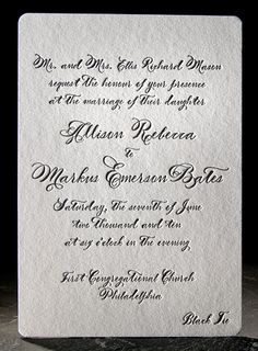 Vintage inspired invitations. It's like Henry David Thoreau decided to write you a letter.