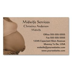 Expectant Mother Business Card Cards Visit Carte De Visite