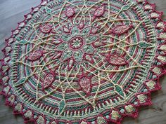 Sunrise overlay crochet mandala.AWESOME!!! Gives me inspiration to go out of the box.