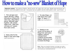 Great infographic on how to make No Sew Blankets