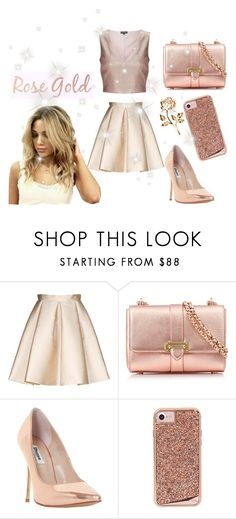 """""""♡ Gabi Demartino Queen Of Rose Gold Look ♡"""" by kaylalovesowls ❤ liked on Polyvore featuring Tara Jarmon, Aspinal of London, Dune, Case-Mate and Miss Selfridge"""