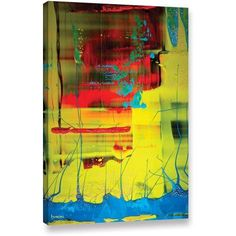 Byron May Suspended Gallery-Wrapped Canvas Wall Art, Size: 16 x 24, Red
