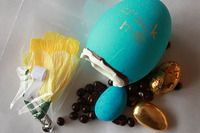 chocolate and treat filled Easter eggs