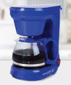This coffee maker is sure to start off your mornings with a charming pop of color and a steamy cup of joe. Small Kitchen Appliances, Drip Coffee Maker, Kitchen Design, Kitchen Ideas, Cobalt Blue, Mornings, Sapphire, Heart, Color