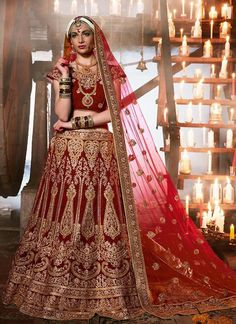 Wedding Lehenga Pakistani Choli Indian Bollywood Traditional Ethnic Bridal wear…