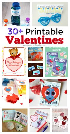 A fun list of printable Valentine cards kids can exchange with friends or classmates at school. Includes candy and non-candy Valentine's Day ideas!