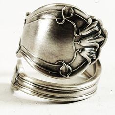Bluebell Spoon Ring Art Nouveau Flower Sterling Silver by Spoonier