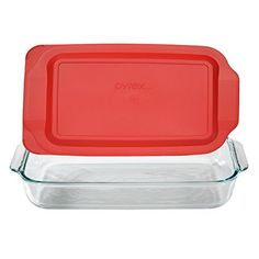 Pyrex Basics 3 Quart Glass Oblong Baking Dish with Red Plastic Lid - 9 inch x 13 Inch by Pyrex - Casseroles&Bakers Broccoli Cheese Casserole, Corn Casserole, Casserole Dishes, Casserole Recipes, Pasta Recipes, Dinner Recipes, French Toast Casserole, Breakfast Casserole, Paleo Breakfast