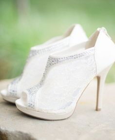 Wedding shoes idea; Featured Photographer: Carrie King Photography