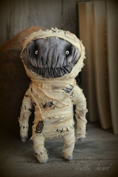 Egyptian mummy stuffed art doll by IrinaSTextileheart on Etsy