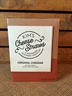 Kim's Cheese Straws by the Case- $60.00 for twelve (12) 3.5 oz boxes of my homemade cheese straws. You choose the flavor: original cheddar, parmesan, tomato basil cheddar, or hot habanero cheddar. Ships in 2-3 days.