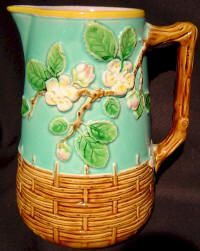 Majolica Pitchers from Trilogy Antiques