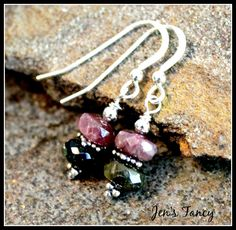 Tourmaline earrings, sterling silver.  Lovely!  Tourmaline is one of…