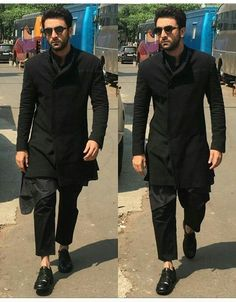 26 Best Black Kurta Pajama for Men 2019 - Lombn Sites Mens Indian Wear, Mens Ethnic Wear, Indian Groom Wear, Indian Men Fashion, Men's Fashion, Mens Fashion Suits, Fashion Dresses, Wedding Kurta For Men, Wedding Dresses Men Indian