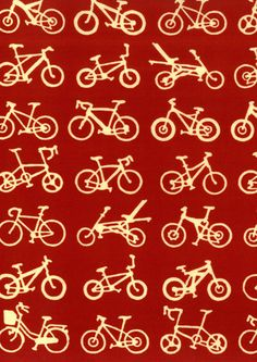 Tenugui-Japanese Hand Dyed Fabric/Scarf/Towel with Card and Envelope-Bike-red.