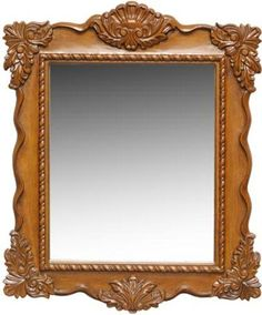 Dreamline Classic Mirror, Solid wood frames with hand carving, Available in Antique Oak, Finish matches available vanity cabinets. Mirrored Picture Frames, Antique Picture Frames, Wooden Picture Frames, Vintage Frames, Wooden Frames, Victorian Mirror, Antique Mirrors, Spiegel Design, Boarders And Frames
