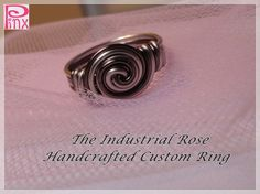 'Industrial Rose Simplicity Rose Custom Ring' is going up for auction at 12pm Wed, Nov 21 with a starting bid of $5.