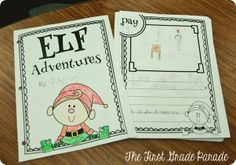 Awesome ideas and freebies for Elf on the Shelf in the classroom from The First Grade Parade!