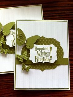 Happiest Birthday Wishes stamp set & Butterfly embosslits