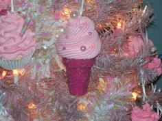 Fake Ice Cream Cone Christmas Ornament for Your Holiday Decor, Christmas Tree Accents, Photo Props