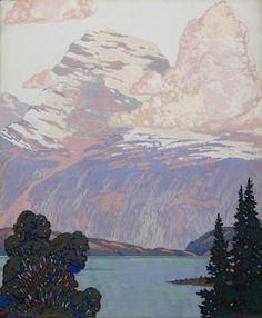 Rockies Landscape by Frank Johnston Franklin Carmichael, Group Of Seven Paintings, Tom Thomson Paintings, Luc Tuymans, Emily Carr, National Art, Canadian Artists, Art Studies, Pacific Northwest