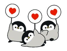 LINE Creators' Stickers - Baby of a gentle penguin(love ver.) Example with GIF Animation Penguin Love, Cute Penguins, Cute Love Cartoons, Cute Cartoon, Gif Pictures, Cute Pictures, Gif Lindos, Penguin Drawing, Chibi Cat