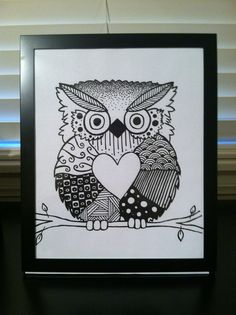 doodle owl by doodlingKatie on Etsy, $10.00