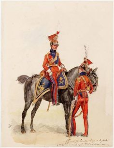 Dutch 'Red' Lancers, 2nd Light Horse Lancers, Napoleon's Imperial Guard 1810