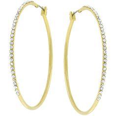 Pendientes Aro - Crystal Dorado  #pendientes #joyería #complementos #valentinasalerno #joyas