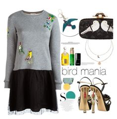 """Bird mania "" by teryblueberry ❤ liked on Polyvore featuring LC Lauren Conrad, Gucci, Oscar de la Renta, RED Valentino, Guerlain, Nuxe, Burberry, Chanel, Chantecaille and Essie"
