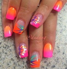 nice 50+ Unique & Lovely Summer Nail Art Ideas That You Will Love - Get On My Nail