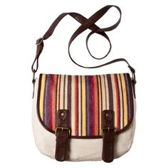 This Mossimo Supply Co. Stripe Flap Over Crossbody from Target is perfect for a summer concert. Its big enough to put all the essentials in without the feel of luggage. Its also cheap enough at 24.99 for a college student like me!