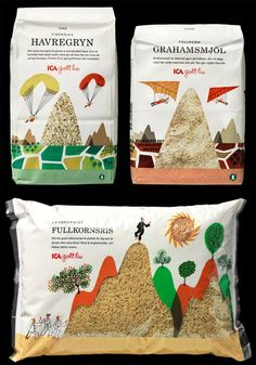 Clever packaging using and clear windows to the product… Rice Packaging, Clever Packaging, Food Packaging Design, Pretty Packaging, Packaging Design Inspiration, Brand Packaging, Graphic Design Inspiration, Graphic Design Fonts, Label Design