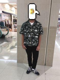 アロハシャツをキレイめに着こなすいめーじでコーデしました。