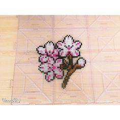 Cherry blossom perler beads by hannah