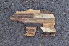 Rustic Wooden Bear Silhouette by christopherrthompson on Etsy