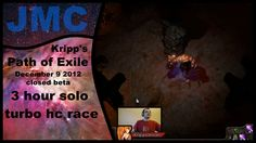 Kripp's Path of Exile races - Closed beta, Dec 9 2012, 3 hour solo turbo race | #Games #VideoGames #PathofExile #Video #Videos